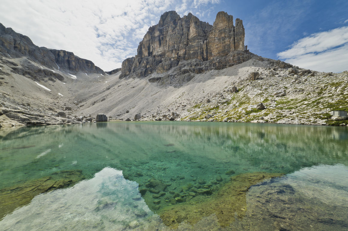 Dolomites: the breathtaking mountains above San Vigilio